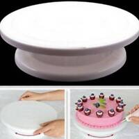 "11"" Rotating Revolving Plate Decorating Cake Turntable Kitchen Display Stand Pop"