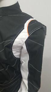 Go Kart Cordura Race Suit  Black & White - Special Offer