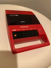 Panasonic Rq-44A Vtg Red Portable Cassette Play Recorder Panapet Toot A Loop Era
