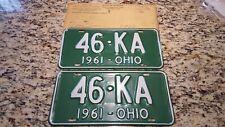 1961 Ohio License Plate Pair