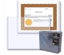Lot of 5  Stock Certificate Rigid Plastic Topload Holders Sheets Protectors