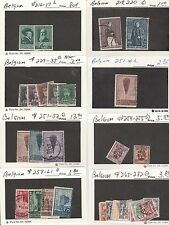 KAPPYSSTAMPS 132-16 BELGIUM - 8 LOTS - TABS - SEE SCANS -USED/MNH/MH GOOD TO XF