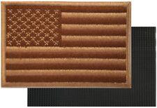 AMERICAN FLAG MOTORCYCLE VEST BIKER PATCH DESERT TAN Embroidered VELCRO® AFV-3