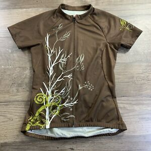 Specialized Womens Full Zip Cycling Jersey Size S Brown