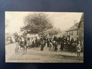 """VINTAGE POSTCARD ANGLESEY - HARRIERS MEET AT PENTRAETH - EARLY 1900""""s. ."""