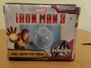 NEW AVENGERS IRON MAN 3 PROP REPLICA LIGHT UP LED ARC REACTOR RING +  SIZE 10