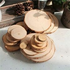50pcs DIY Wedding Centerpieces Slices Discs Wood Tree Bark Crafts