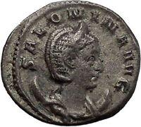 SALONINA wife of GALLIENUS 255ADAuthentic Ancient Silver Roman Coin JUNO i45599