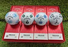 New listing 12 NEW Callaway Chrome Soft TRUVIS Golf Balls - UNIQUE Designs & RARE Courses
