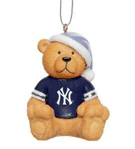 New York Yankees Christmas Tree Holiday Ornament New - Jersey Teddy Bear Santa