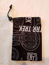 "Dice Bag Cloth Drawstring Star Trek Enterprise 4.5"" x 6"""