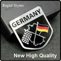 New GERMANY German Chequered Flag Car Badge Emblem Decal Sticker boot rear 94
