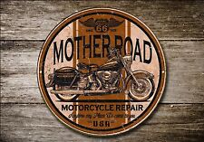 Route 66 Letrero De Metal, Moto, Ciclista, Vintage, moto, publicidad, 887