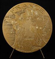 Medal France to the Seumeuse D' Oscar Roty Radiant Landmarks S Bret 1974 Medal