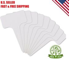 100 Pc 3.9 Inch Plastic Plant Label Garden Marker Nursery Tags T-Type Stake Note