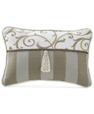Croscill Anessa Boudoir Decorative Pillow, 18 Inch By 12 Inch, Tan or Beige
