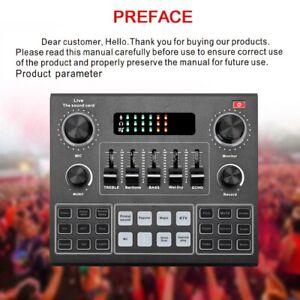 V9 Sound Card Audio Bluetooth USB Headset Microphone Stereo Live Broadcast New