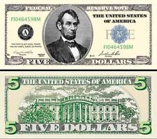 "LINCOLN - BILLET ""5 DOLLARS US"" - Abraham Collection Million Monnaie President H"