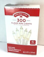 Holiday Time 300 Clear White Mini Lights White Wire Christmas Wedding Outdoor
