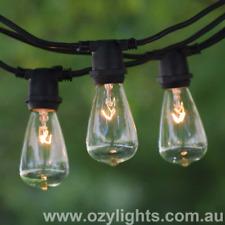25 Piece Festoon Outdoor Teardrop Vintage Retro String Lights