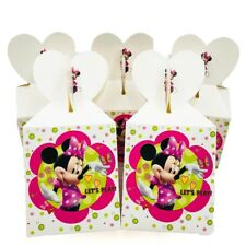 12Pcs Minnie Mouse Candy Box Kids Birthday Party Girls Favor Decoration Gift Box