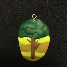 Polymer Nature-Inspired Tree with a Striped Background Pendant