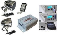PLMCA40 ATV Motorcycle Boat Sound 2 Speakers + Amplifier MP3 USB Amp Package