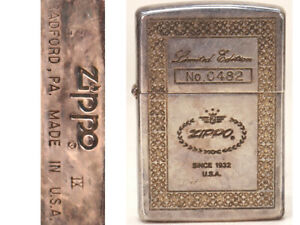 Used Zippo Limited Edition 0482 Mirror Plating Japan Super Cool Rare
