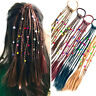 2pcs enfants perruque tresses multi-couleur mini clip élastiques cheveux bandes