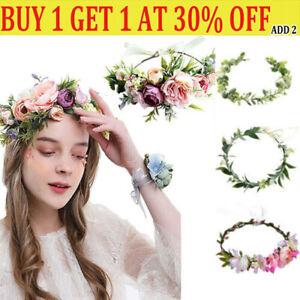 Boho Flower Headband Garland Festival Wedding Crown Hair Band Hair Accessories-L