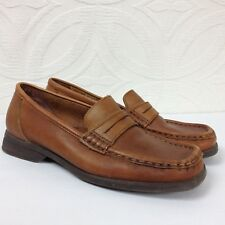 DR. SCHOLL'S Brown Leather Driving Moccasins Loafers Comfort Shoes Womens Size 6