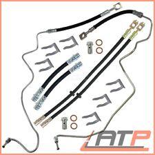 6X BRAKE HOSE + HOLDING BRACKETS FRONT+REAR AUDI A3 8L 96-03