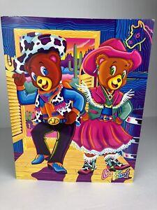 VTG Lisa Frank Folder Hollywood Bear Beverly Bear 'Bearific Buckaroos' Western