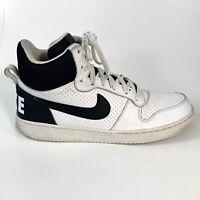 Nike Court Borough Mens Mid Sneaker White Black 838938 100 Size 10.5