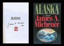 JAMES MICHENER Autographed Signed Book ALASKA Pulitzer Prize