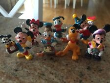 "7 Walt Disney 2"" Applause Plastic Characters - Mickey & Minnie Mouse"