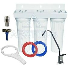 "3 Stage 10"" Drinking Water Filter with Alkalinity Filter raise ph add minerals"