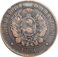 Argentina 2 dos centavos 1891 KM#33 (1301) Latin Monetary Union