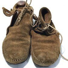Minnetonka Moccasin Fringe Brown Suede 982 Size 7 Vintage