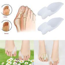 2pcs Silicone Gel Foot Pad Stretch Corrector Alignment Toe Bone Insole YYGH