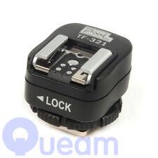 TF-321 ETTL e-TTL Hot Shoe Converter for Canon w PC socket MT-24EX 430EX 220EX
