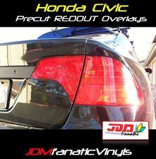 Civic Sedan Tail Light Overlays Signal Reverse RED REDOUT TINT Vinyl K20 FA5 JDM