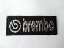 MOTORSPORTS RACING TYRE SEW ON / IRON ON PATCH:- BREMBO (c) SILVER BLOCK