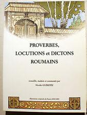 ROUMANIE/PROVERBES LOCUTIONS ET DICTONS/N.GUERITEE/ED THERAMEX/2000/ILLUSTRE