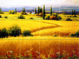 Art Mural Ceramic Landscape Backsplash Tile #463