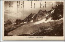 Chamonix-Mont-Blanc ~ 1910 peaks of the Alps Carte P.