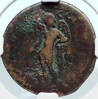 COMMODUS 177AD Authentic Ancient Roman Coin PARIUM MYSIA EROS HERM RARE i81877