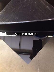 "BLACK ACRYLIC PLEXIGLASS 1/8"" X 24"" X 48"" PLASTIC SHEET"