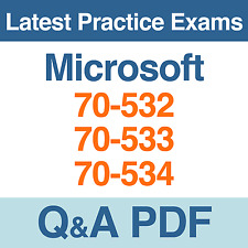 Microsoft Practice Tests MSCD Certification 70-532, 70-533, 70-534 Exams Q&A PDF