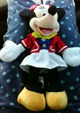 "Disney Plush Minnie Mouse Sailor Costume 12"" Cruise Line Doll"